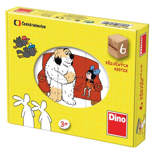 DINOTOYS - Drevené kocky Rozprávky 6 ks