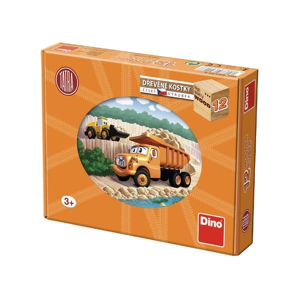 DINOTOYS - Drevené kocky Tatra 12 ks