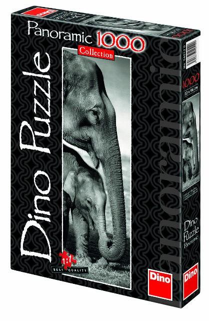 DINOTOYS - Puzzle Dino Slony 1000