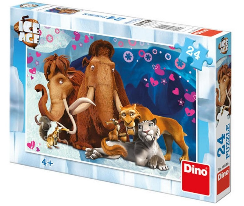 DINOTOYS - Puzzle Doba ľadová 24 ks