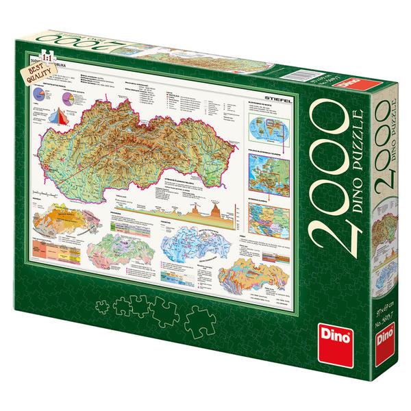 DINOTOYS - Puzzle Mapa Slovenska 2000