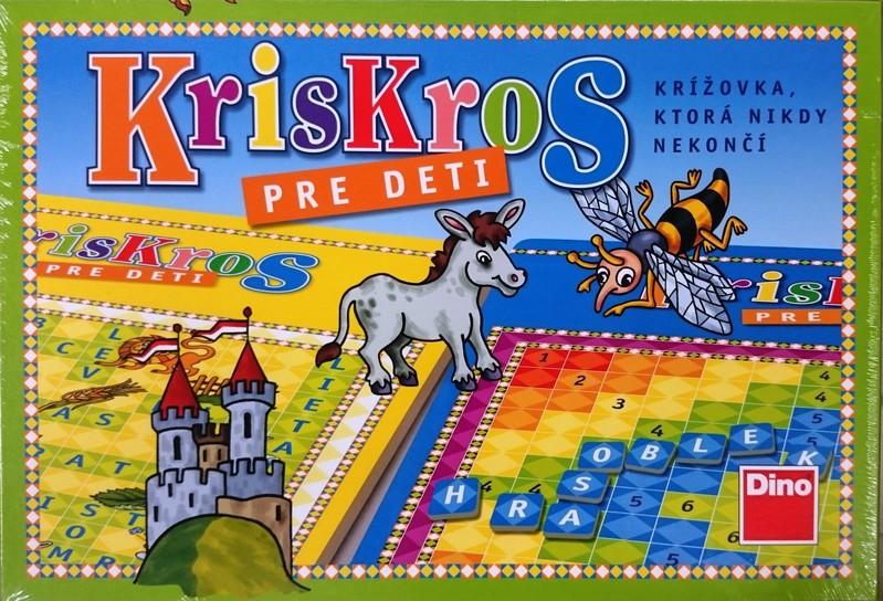 DINOTOYS - Spoločenská hra KrisKros pre deti SK