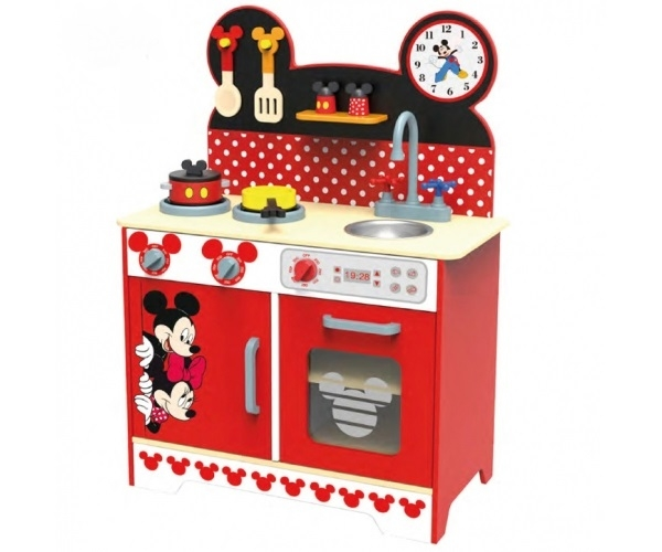 DISNEY - Drevená kuchyňka Disney, Mickey a Minnie, 60 x 30 x 85 cm
