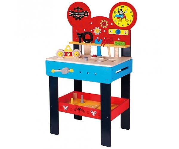 DISNEY - MIckeyho veľký drevený stôl s náradím Disney, 45 x 30 x 80 cm