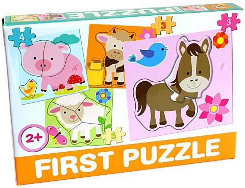 DOHÁNY TOYS - Puzzle pre najmenších 4v1