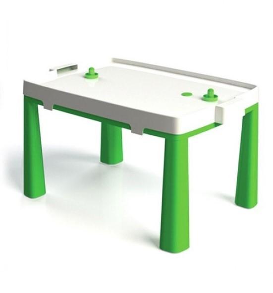 DOLONI - 2 v 1 detský stôl + hra stolný hokej zelený