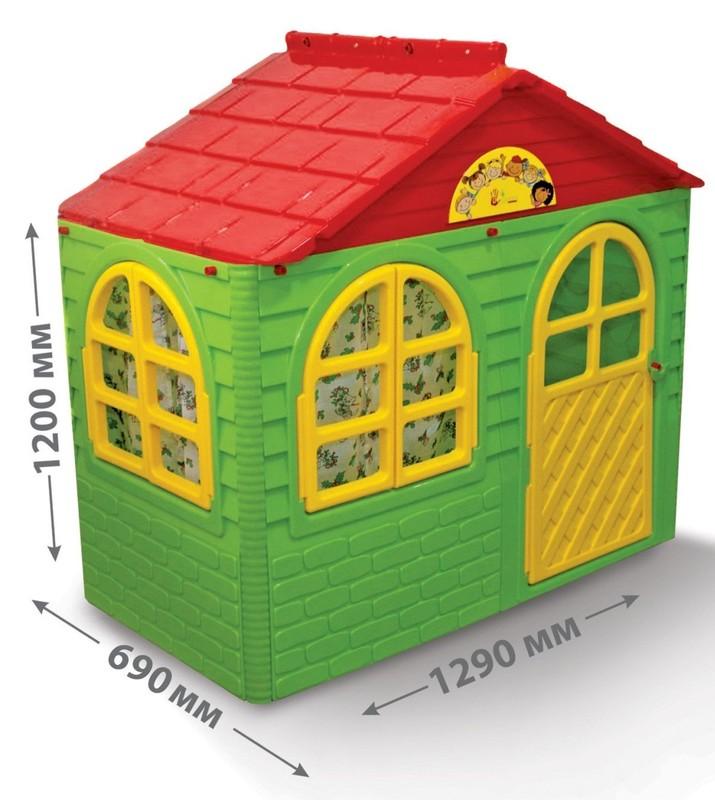 DOLONI - Domček pre deti zelený menší