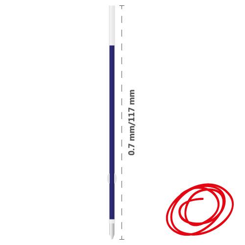 DONG-A - Náplň guličková Anyball 0,7 mm - červená