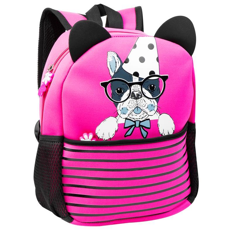 EASY - Batoh neoprenový - detský, psík ružový