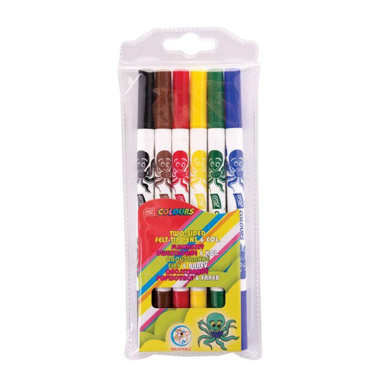 EASY - Fixy EASY COLOURS - obojstranné 6 farieb vyprateľné