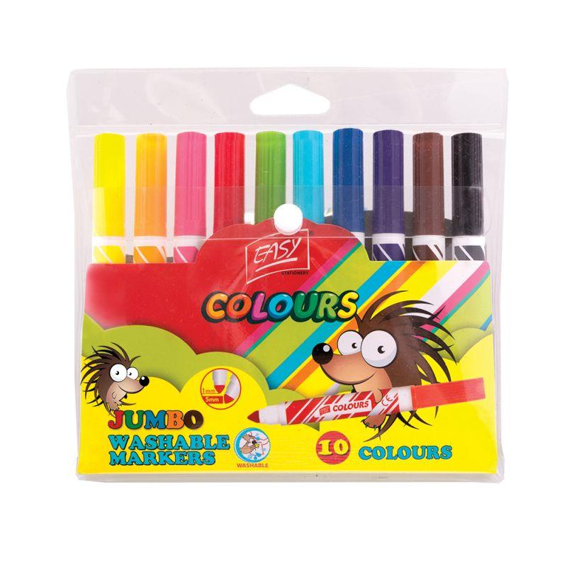 EASY - Fixy JUMBO 10 farieb vyprateľné