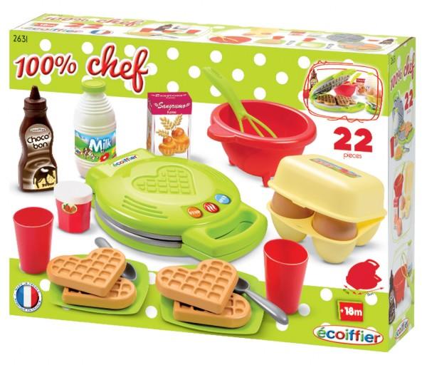 ECOIFFIER - Vaflovač 100 % Chef s príslušenstvom 2631