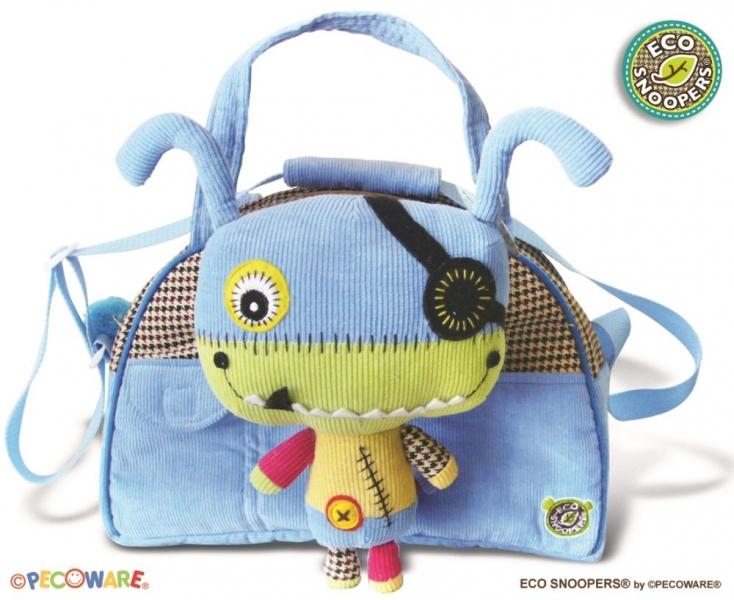 ECOSNOOPERS - Štýlová detská taška Monster - sv. modrá
