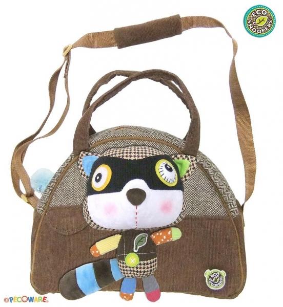 ECOSNOOPERS - Štýlová detská taška Mýval - hnedý