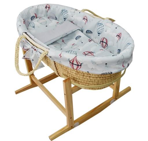 EKO - Kôš Mojžišov pre bábätko Natural so stojanom matrac + príslušenstvo Ballons