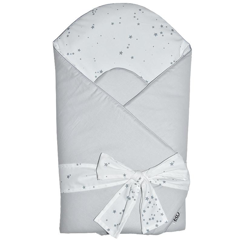 EKO - Zavinovačka bavlnená s potlačou a kokosovým vnútrom Grey 75x75cm