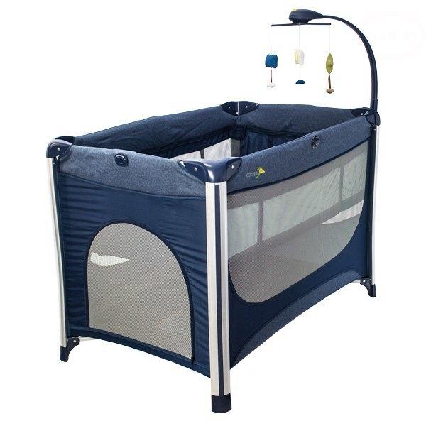 EURO BABY - Detská cestovná postieľka RESTFUL - modrá