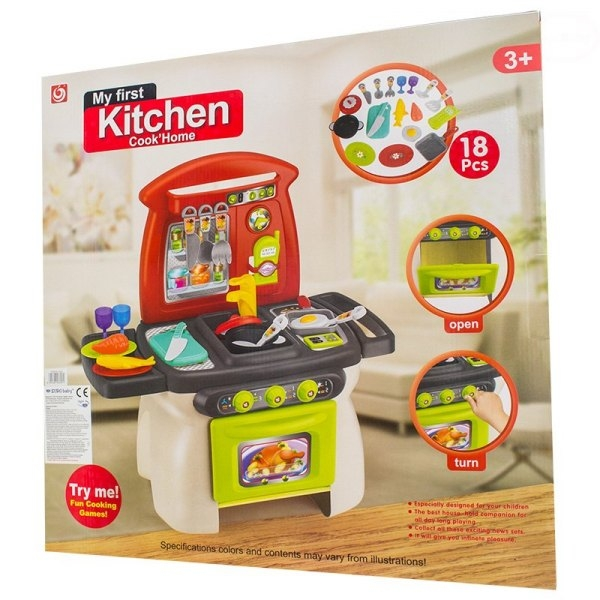 EURO BABY - Detská kuchynka s príslušenstvom - My first Kitchen