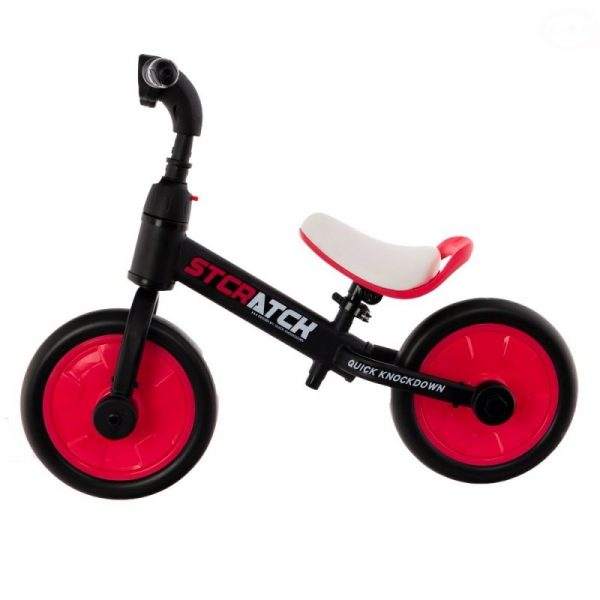 EURO BABY - Detské odrážadlo, bicykel 2v1 Plus - ružové