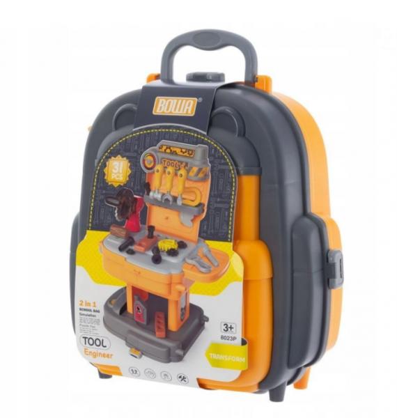 EURO BABY - Detský kufríkový batoh - Náradie, 2v1