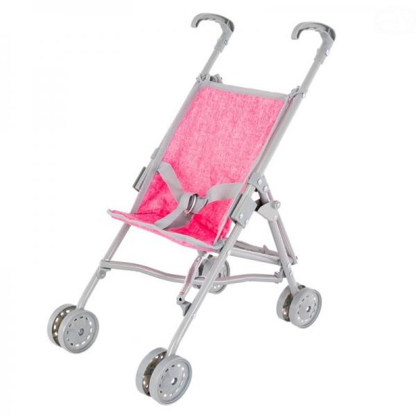 EURO BABY - Golfový kočík pre bábiky - ružový