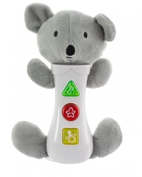 EURO BABY - Hračka so zvukmi na baterie pre najmenších - koala, sivá