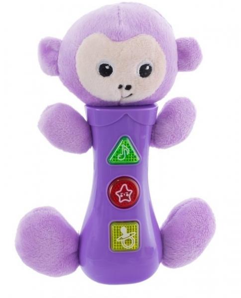 EURO BABY - Hračka so zvukmi na batérie pre najmenších - opička, fialová
