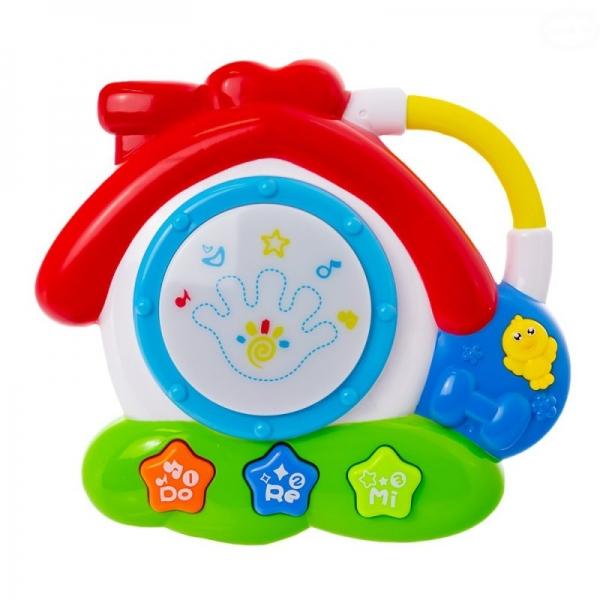 EURO BABY - Interaktívna hračka s melódiou bubienok - Domček