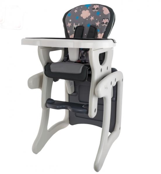 EURO BABY - Jedálenský stolček 2v1 - Veverička v šědé, K19