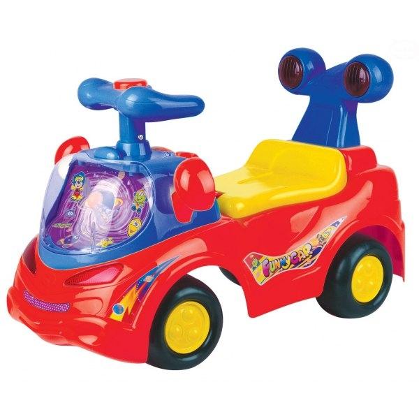 EURO BABY - Odrážadlo, jezdítko - FUNNY CAR - červené