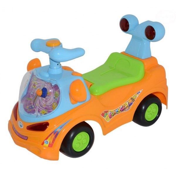 EURO BABY - Odrážadlo, jezdítko - FUNNY CAR - oranžové