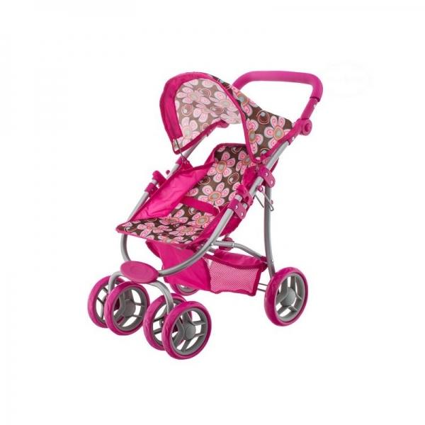EURO BABY - Športový kočík pre bábiky - Kvetinky