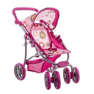 EURO BABY - Športový kočík pre bábiky - ružový