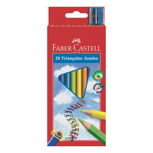 FABER CASTELL - ECO pastelky Faber-Castell trojhranné so strúhadlom 12ks, farebné