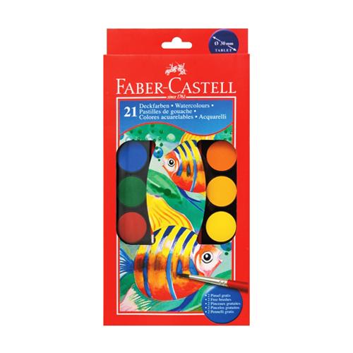 FABER CASTELL - Farby vodové Faber-Castell 21 farebné