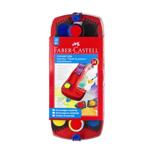 FABER CASTELL - Farby vodové Faber-Castell stavebnicové 24 farieb