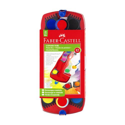 FABER CASTELL - Farby vodové stavebnicové 12 farieb