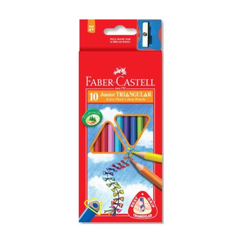 FABER CASTELL - Pastelky Faber-Castell Grip Junior 10 farieb
