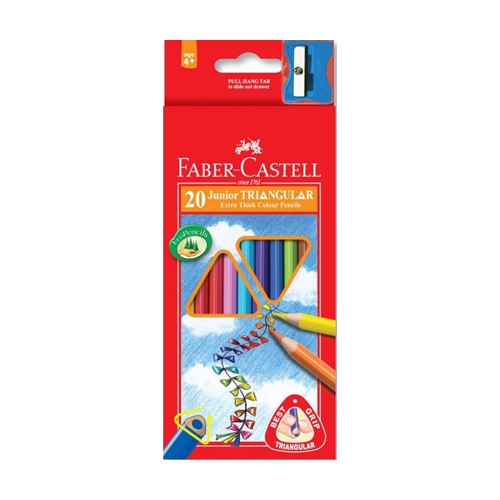 FABER CASTELL - Pastelky Grip 20 farieb
