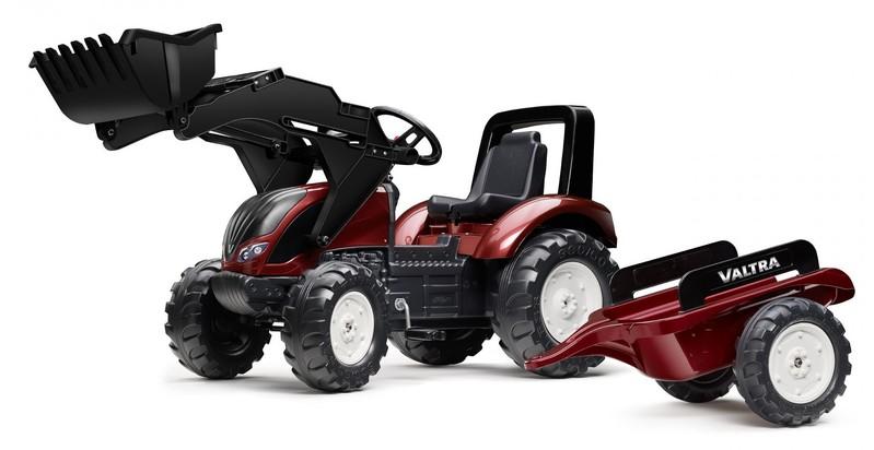 FALK - FALK Šliapací traktor 4000AM VALTRA S4 s nakladačom a vlečkou