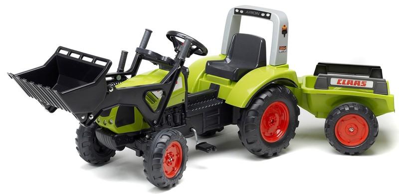 FALK - Šliapací traktor 1040AM Clas Arion 430 s nakladačom a vlečkou