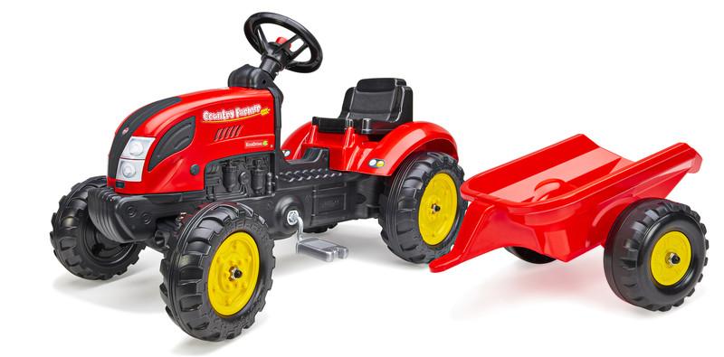 FALK - šliapací traktor 2058L Country Farmer s vlečkou - červený