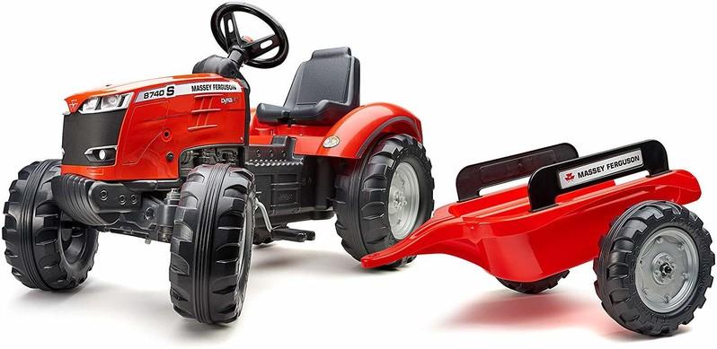 FALK - Šliapací traktor 4010AB Massey Fergusson S8740 s vlečkou