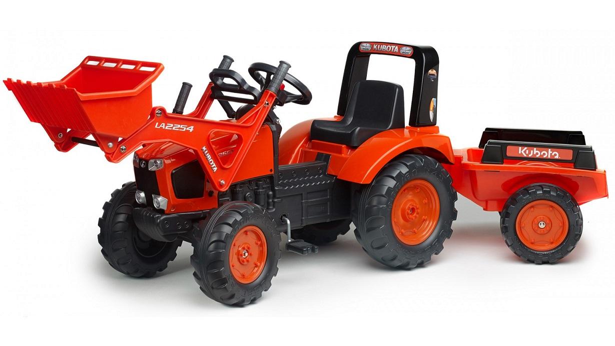 FALK - Šliapací traktor Kubota s nakladačom a vlečkou 2060AM