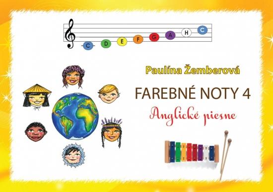 Farebné noty 4 - Anglické piesne - Paulína Žemberová