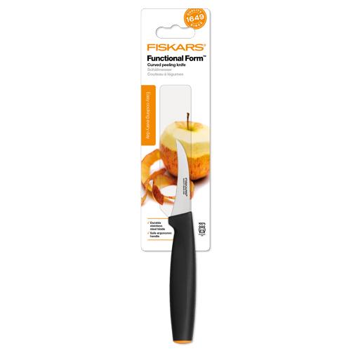 FISKARS - Nôž lúpací zahnutý Functional Form 7 cm 1014206