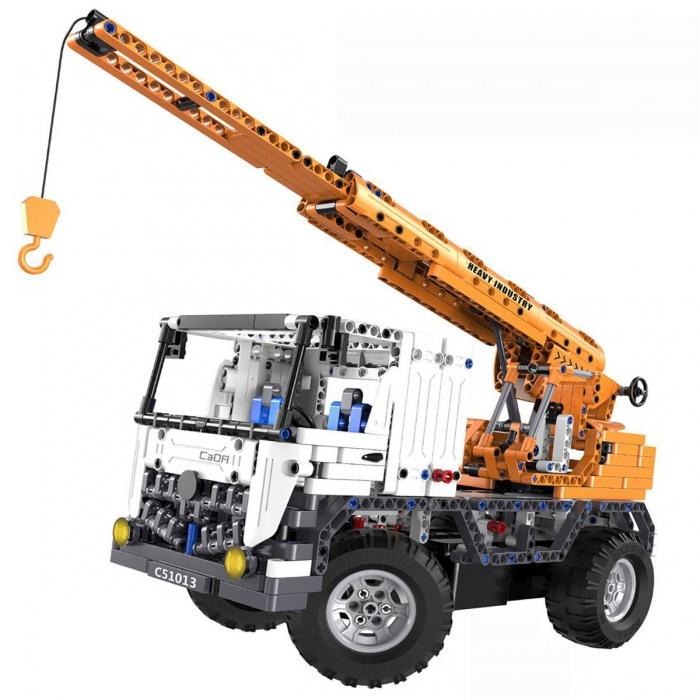FLEG - Autožeriav Fleg na diaľkové ovládanie - 2 auta v 1,frekvence 2.4GHz, 839 dielov k zostaveniu