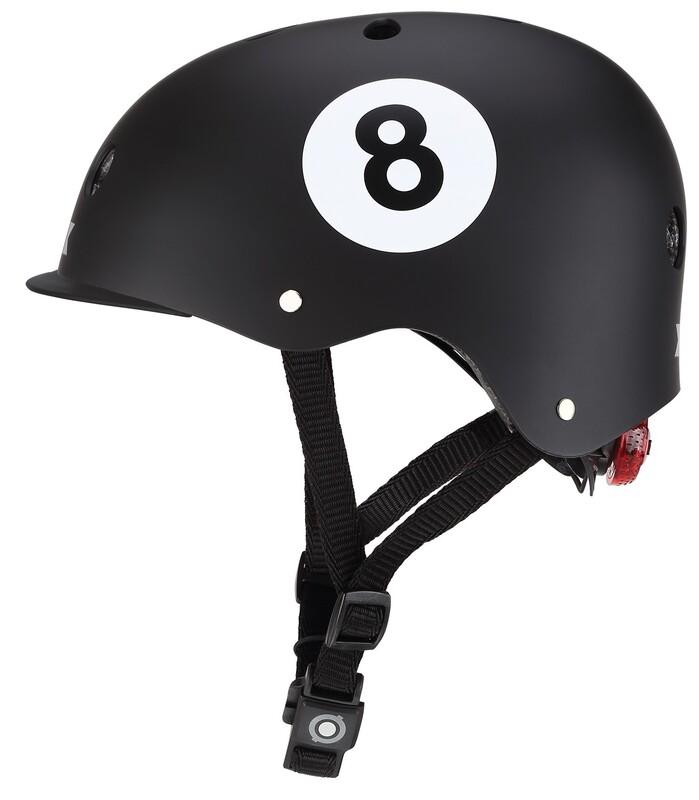GLOBBER - Detská helma Elite Lights Black - 8-Ball XS/S