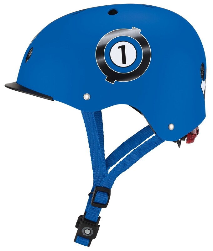 GLOBBER - Detská helma Elite Lights Navy Blue - Racing XS/S