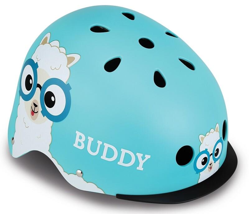 GLOBBER - Detská helma Elite Lights Sky Blue Buddy XS/S